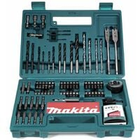 Makita B-53811 Ensemble d'accessoires ( embouts et forets ), 100 pièces + Coffret de transport