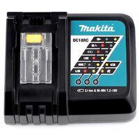 Makita Power Source Kit 18V Li: 2x Batteries BL1860B 6,0Ah + Chargeur DC18RC ( 199480-6 ) + Coffret Makpac