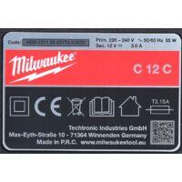 Milwaukee M12- C12C Chargeur 12V pour Batteries Li-Ion ( 4932352000 )