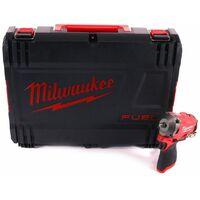 """Milwaukee M12 FIW38-0 Boulonneuse à percussion compacte sans fil 12 V, 339 Nm, 3/8"""", Brushless + HD Box - sans batterie, sans chargeur (4933464612)"""