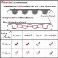 Meisterling Rouleau d'arêtier / Closoir de faîtage 320 mm x 5 m, PET anti-UV haute performance, non-tissé - bande centrale en tissu, noir (012100000400)