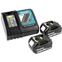 Makita Marteau perforateur à batterie sans balais DHR 171 RFJ 18 V à 2 étages SDS Plus + 2x Batteries 3.0Ah + Chargeur + Coffret Makpac