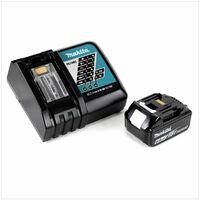 Makita Kit Power Set avec 1x Batteries BL 1860 B 6,0 Ah 18 V + Chargeur rapide DC 18 RC