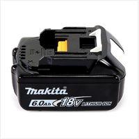 Makita Kit Power Set avec 2x Batteries BL 1860 B 6,0 Ah 18 V + Chargeur rapide DC 18 RC