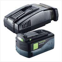 Festool TSC 55 Li 5,2 REB-Basic Scie circulaire plongeante sans fil avec boîtier Systainer + 1x Batterie BP 18 Li 5,2 AS 18V 5,2 Ah + Chargeur rapide SCA 8 Li-Ion