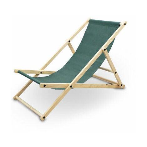 Liegestuhl Sonnenliege Gartenliege Holzliege Strandliegestuhl Campingstuhl Holz Klappbar Grun