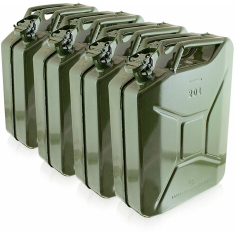 4x 20 Liter Stahl Benzinkanister Kraftstoffkanister Kanister UN Zulassung