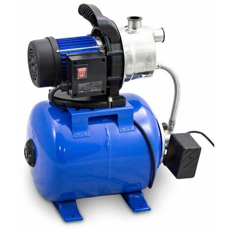 Hauswasserwerk Wasserpumpe Gartenpumpe Bewässerungspumpe Stahl Kessel 1200W 3800L/H