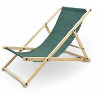 Liegestuhl Sonnenliege Gartenliege Holzliege Strandliegestuhl Campingstuhl Holz Klappbar (Grün)
