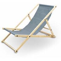 Liegestuhl Sonnenliege Gartenliege Holzliege Strandliegestuhl Campingstuhl Holz Klappbar (Anthrazit)