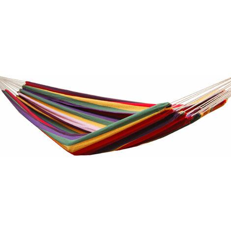 Hamac XXL pour deux personnes 400x160cm   Jusqu'à 150 kg   100% coton   Hamacs Amanka plus de monde ensemble   multicolore