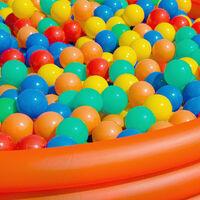 LittleTom 2000 Boules de couleur Ø 6 cm de diamètre   petites Balles colorées en plastique jeu jouet pour enfants   mélange multicolore jaune rouge bleu vert orange pour remplir piscines châteaux gonflables tentes de jeux   qualité éprouvée
