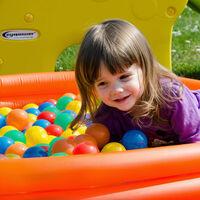 LittleTom 4000 Boules de couleur Ø 6 cm de diamètre   petites Balles colorées en plastique jeu jouet pour enfants   mélange multicolore jaune rouge bleu vert orange pour remplir piscines châteaux gonflables tentes de jeux   qualité éprouvée