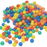 LittleTom 100 Boules de couleur Ø 6 cm de diamètre   petites Balles colorées en plastique jeu jouet pour enfants   mélange multicolore jaune rouge bleu vert orange pour remplir piscines châteaux gonflables tentes de jeux   qualité éprouvée