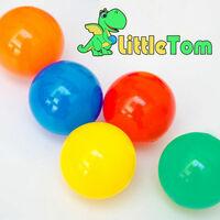 LittleTom 800 Boules de couleur Ø 6 cm de diamètre | petites Balles colorées en plastique jeu jouet pour enfants | mélange multicolore jaune rouge bleu vert orange pour remplir piscines châteaux gonflables tentes de jeux | qualité éprouvée