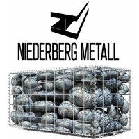 Niederberg Metall Gabion en pierre 100x50x50 MW 10x10 Cage métallique Déco Jardin