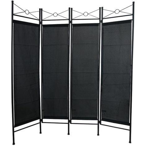 Biombo, Divisor de Habitaciones, 180 x 160 cm, Negro, Panel: 100% Poli