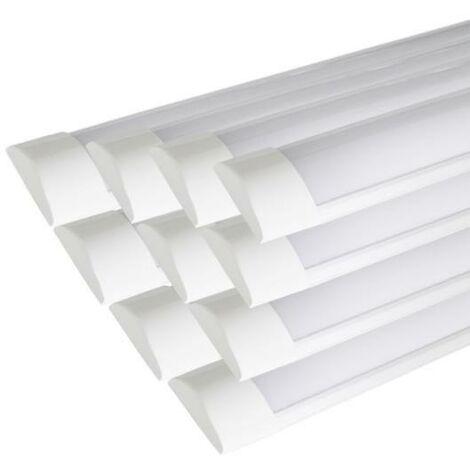 Réglette Lumineuse LED 90cm 36W (Pack de 10) - couleur eclairage : Blanc Froid 6000K - 8000K