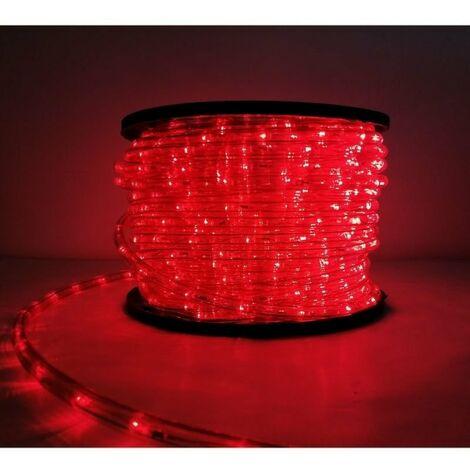 Guirlande LED 220V 50M IP44 Recoupable - Rouge - SILAMP