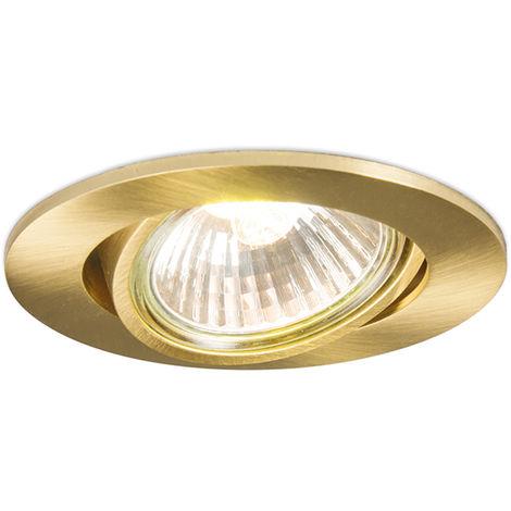 Spot inclinable doré intégré - Cisco Qazqa Moderne Cage Lampe Luminaire interieur Rond