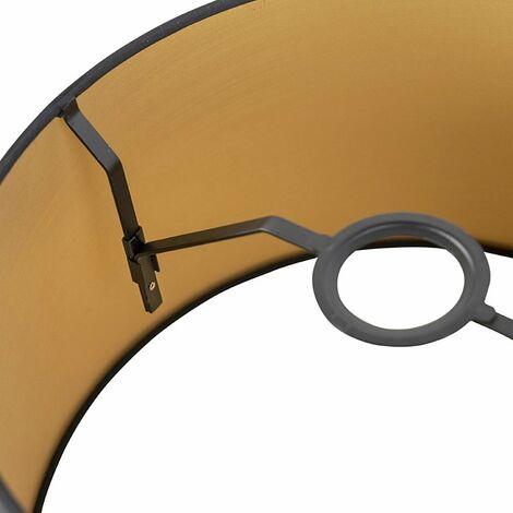 Motif De Feuille 30 cm abat-jour en gris et marron en tissu de coton