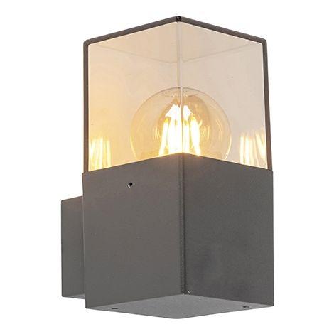 QAZQA denmark - Applique murale Moderne - 1 lumière - L 85 mm - Anthracite - Moderne - Éclairage extérieur