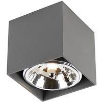 LED Spot de Plafond Design carré 1 gris clair incl.1 x G9 - Boîte Qazqa Design Luminaire interieur cube Carré