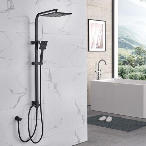 Auralum Modern Duschsystem ohne Armatur Regenduschset Regendusche Eckig Duscharmatur