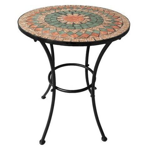 Tavolo Decoro Mosaico Alice O Cm 60 X H 70