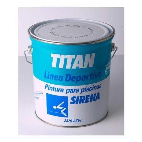 Pintura Piscina 4 Lt Azul Acrilica Disolvente Mate Titan