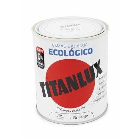 Esmalte  750 Ml Bl Al Agua Ecologico Titanlux