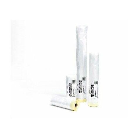 Plastico Protector Con Cinta Krepp 90 Cm X 22,5 Mt Macrepair