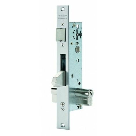 Cerradura Metalica Embutir 15X35Mm 2210Be353Ai Inox Picaporte/Palanca Basculante Tesa