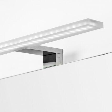 Aplique LED para espejo de baño, 300 mm, IP44, Luz blanca fría, Aluminio y plástico, Cromado