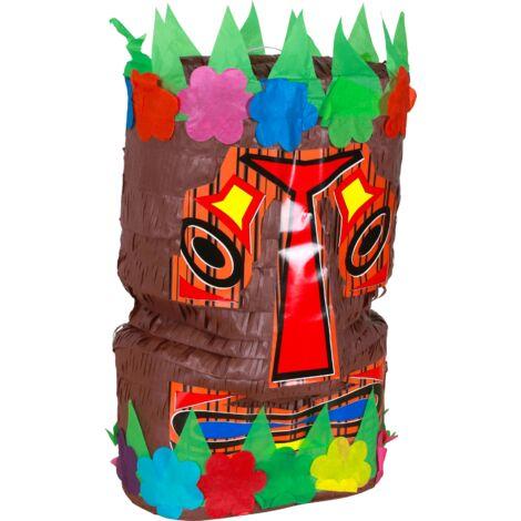 Pinata Tiki 40cm - Pinata Traditionnelle Mexicaine pour anniversaire Enfant - Kit Anniversaire Jouet Enfant Idéal pour les Fêtes ou anniversaire fille - Multicolore