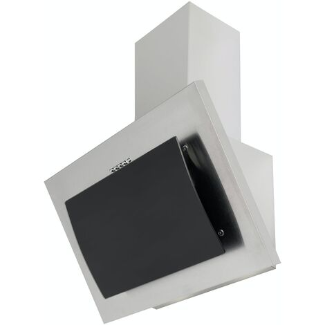 ART10934 60CM ANGLED STAINLESS STEEL AND GLASS COOKER HOOD
