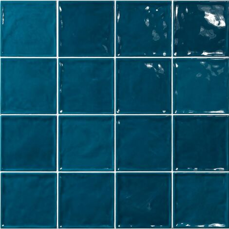 Carrelage effet zellige bleu canard 15x15 CHIC BONDI - 1m²