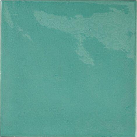 Faience effet zellige bleu turquoise 13.2x13.2 VILLAGE TEAL 25590 - 1m²