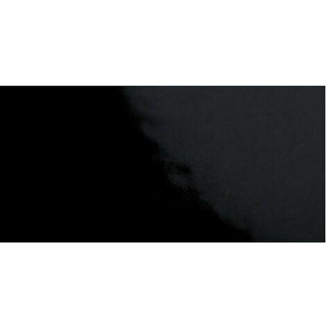 Carrelage Métro plat 10x20 cm noir brillant FLAT NEGRO BRILLO - 1m²