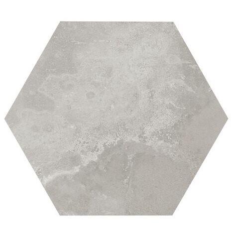 Carrelage hexagonal gris 29.2x25.4cm URBAN HEXAGON SILVER 23514 R9 - 1m²