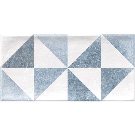Faience murale scandinave patinée triangles pastels THAI 10x20cm - 1.36m²