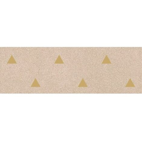 Faience murale beige motif triangle or 32x99cm BARDOT-R Beige - 1