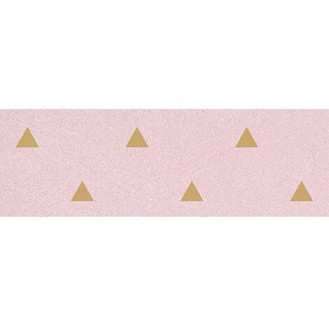Faience murale rose motif triangle or 32x99cm BARDOT-R Rosa - 1