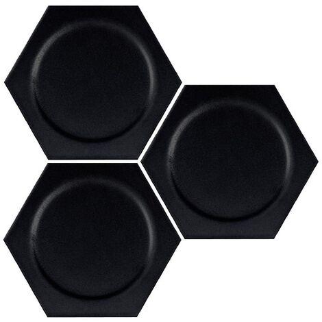 Carrelage hexagonal décors ronds INTUITION BLACK CIRCLE 25x30 cm - 0.935m²
