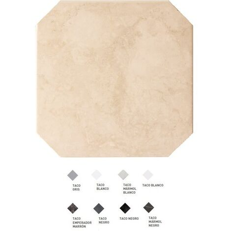 Carrelage octogonal marbré à cabochons 20x20 OCTAGON MARMOL BEIGE 21009 - 1m² | Blanc brillant