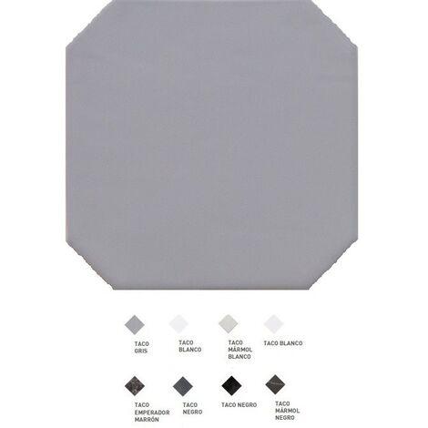 Carrelage octogonal à cabochons 20x20 OCTAGON GRIS 20555 - 1m² | Sans cabochons