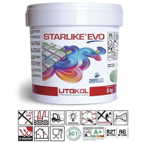 Litokol Starlike EVO Grigio Cemento C.125 Mortier époxy - 1 kg