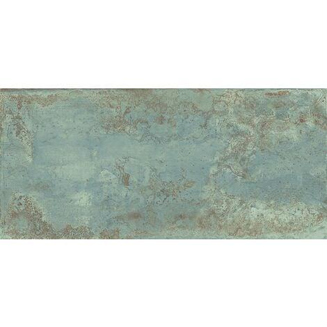 Carrelage rectifié effet métal ZINC GREEN 30X60 - 1.41m²