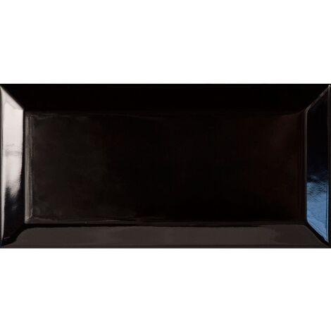 Carreau métro Noir brillant 7.5x15 - 1m²