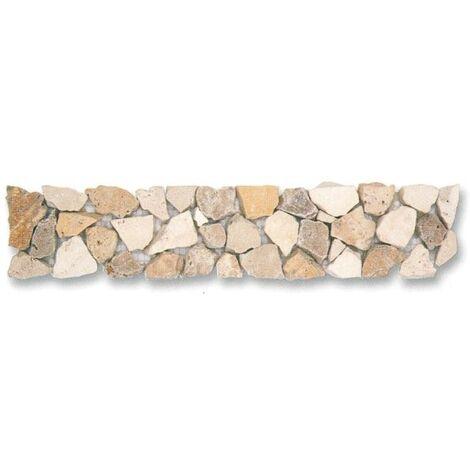 Frise pierre naturelle Travertin mix 5015 30.5x5 cm - unité